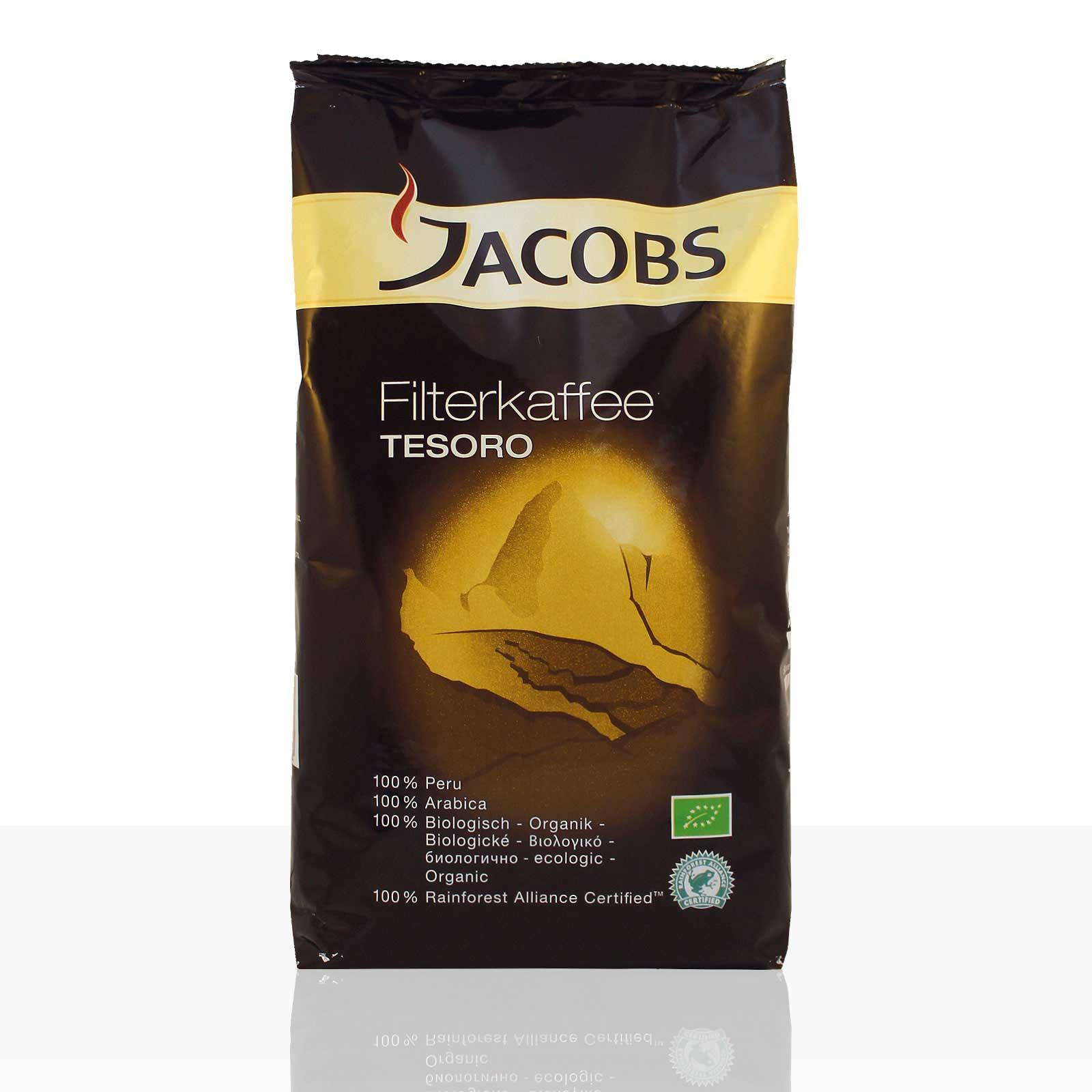 Jacobs Tesoro Filterkaffee Bio - 1kg Kaffee gemahlen, 100% Arabica