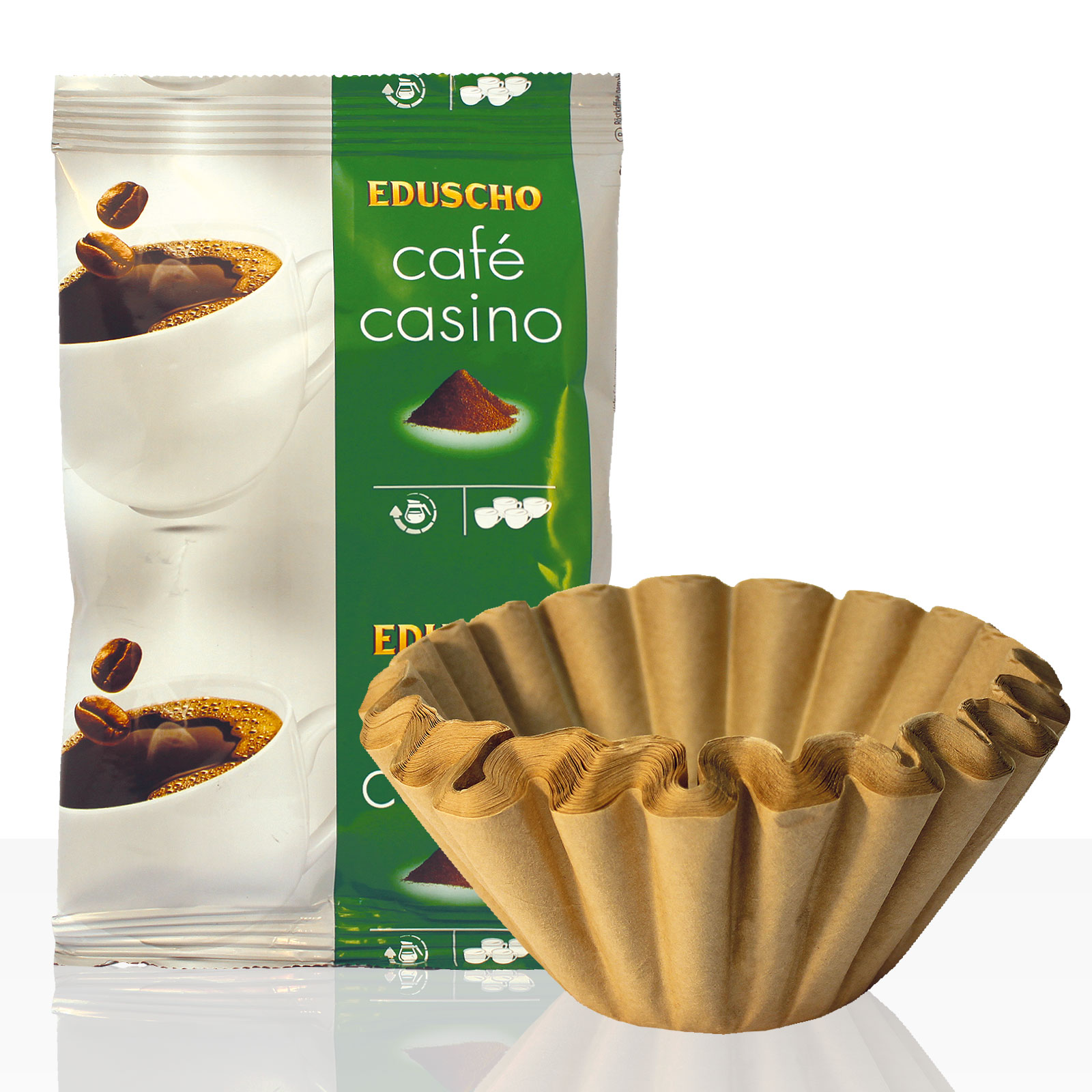 Tchibo / Eduscho Café Casino Plus 42 x 60g Kaffee gemahlen + 50 Korbfilter, Servicepaket