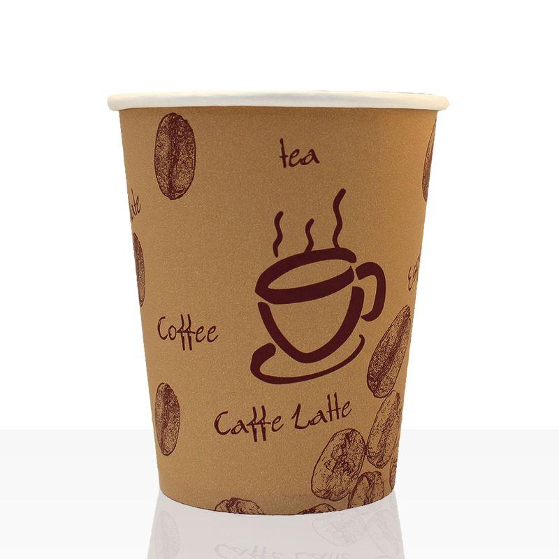 Coffee to go Becher aus Hartpapier 0,2l, 1000Stk, Pappbecher, Kaffeebecher to go