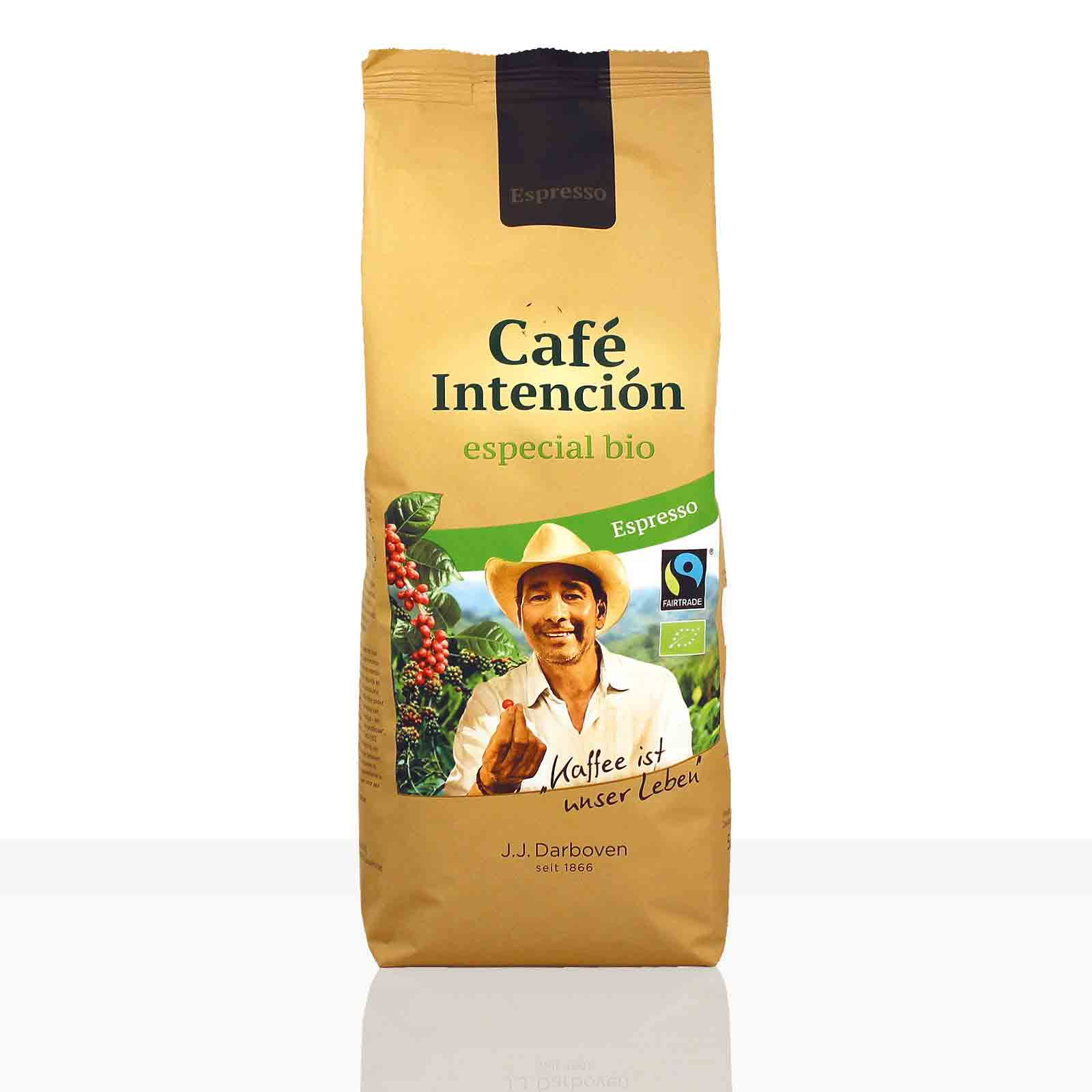 Darboven Espresso Cafe Intencion especial Fairtrade - 500g ganze Kaffee-Bohne