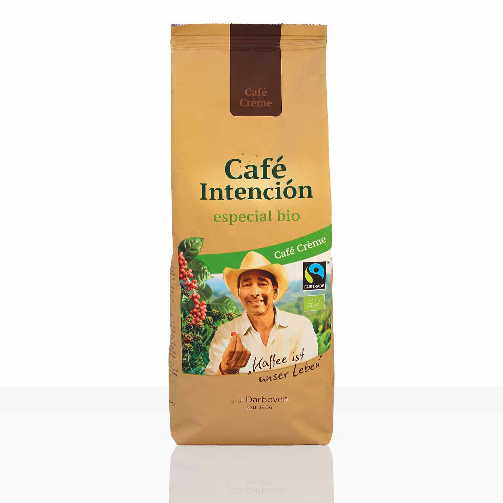 Darboven Cafe Creme Intencion especial Fairtrade - 12 x 500g ganze Kaffee-Bohne