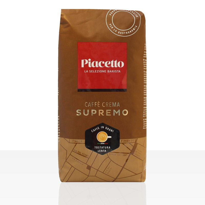 Piacetto Espresso Supremo Caffe Crema - 1kg ganze Kaffee-Bohne