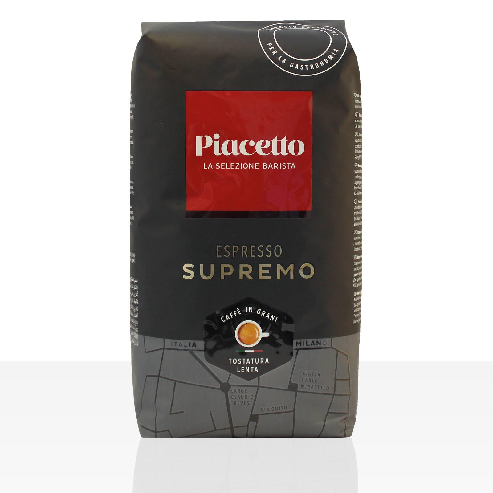 Piacetto Espresso Supremo Espresso - 6 x 1kg ganze Kaffee-Bohne