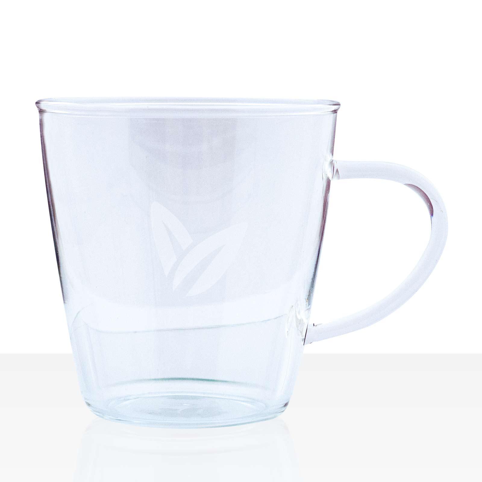 Tchibo Pure Tee-Becher aus Glas mit Henkel 0,3l