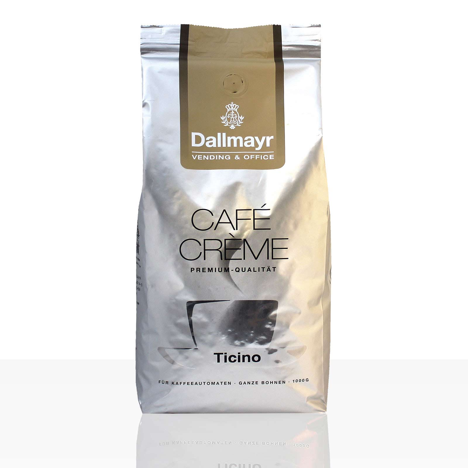 Dallmayr Cafe Creme Ticino - 1kg Kaffee ganze Bohne Vending & Office