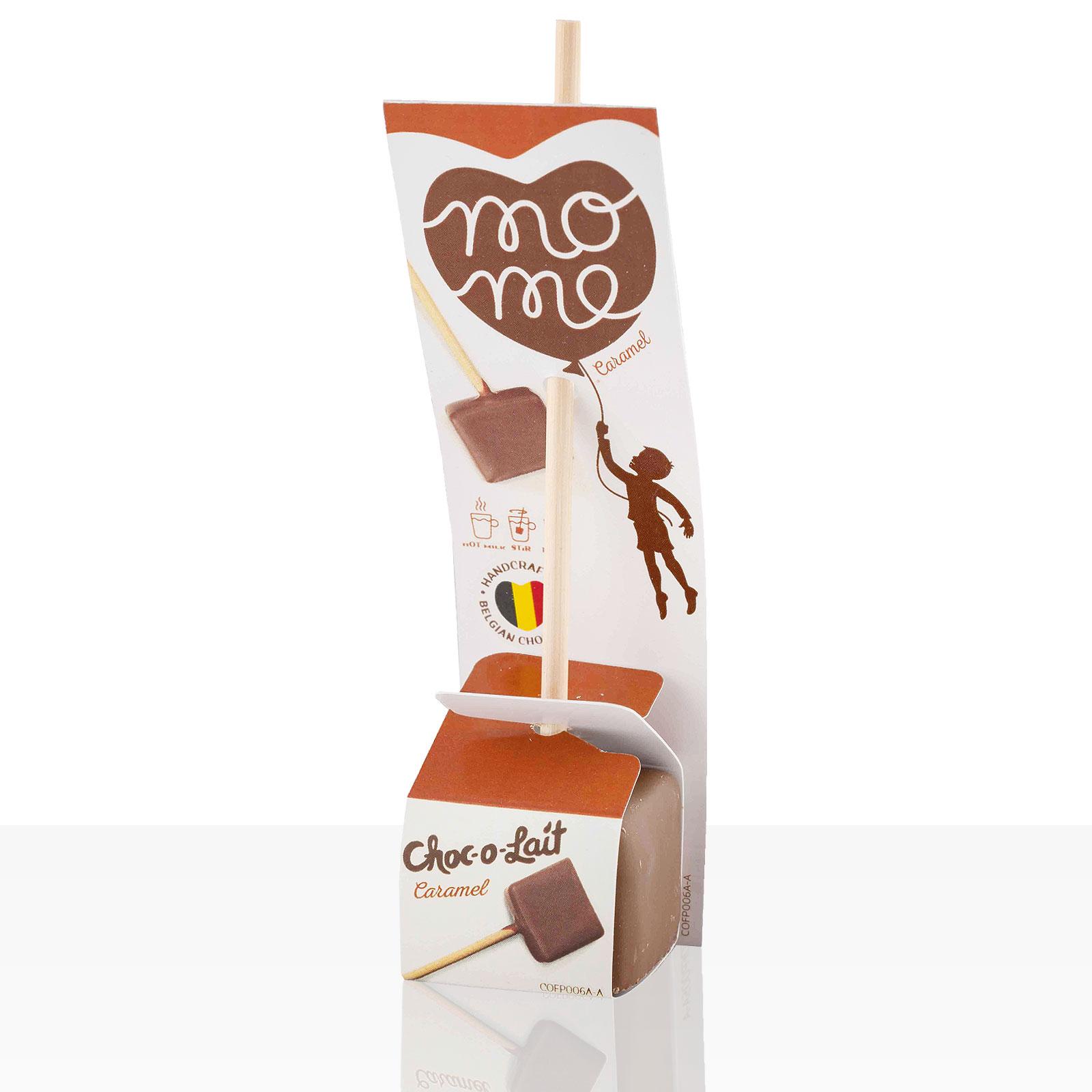 Choc-o-lait Trinkschokolade am Stiel Caramel im Displaykarton 24Stk
