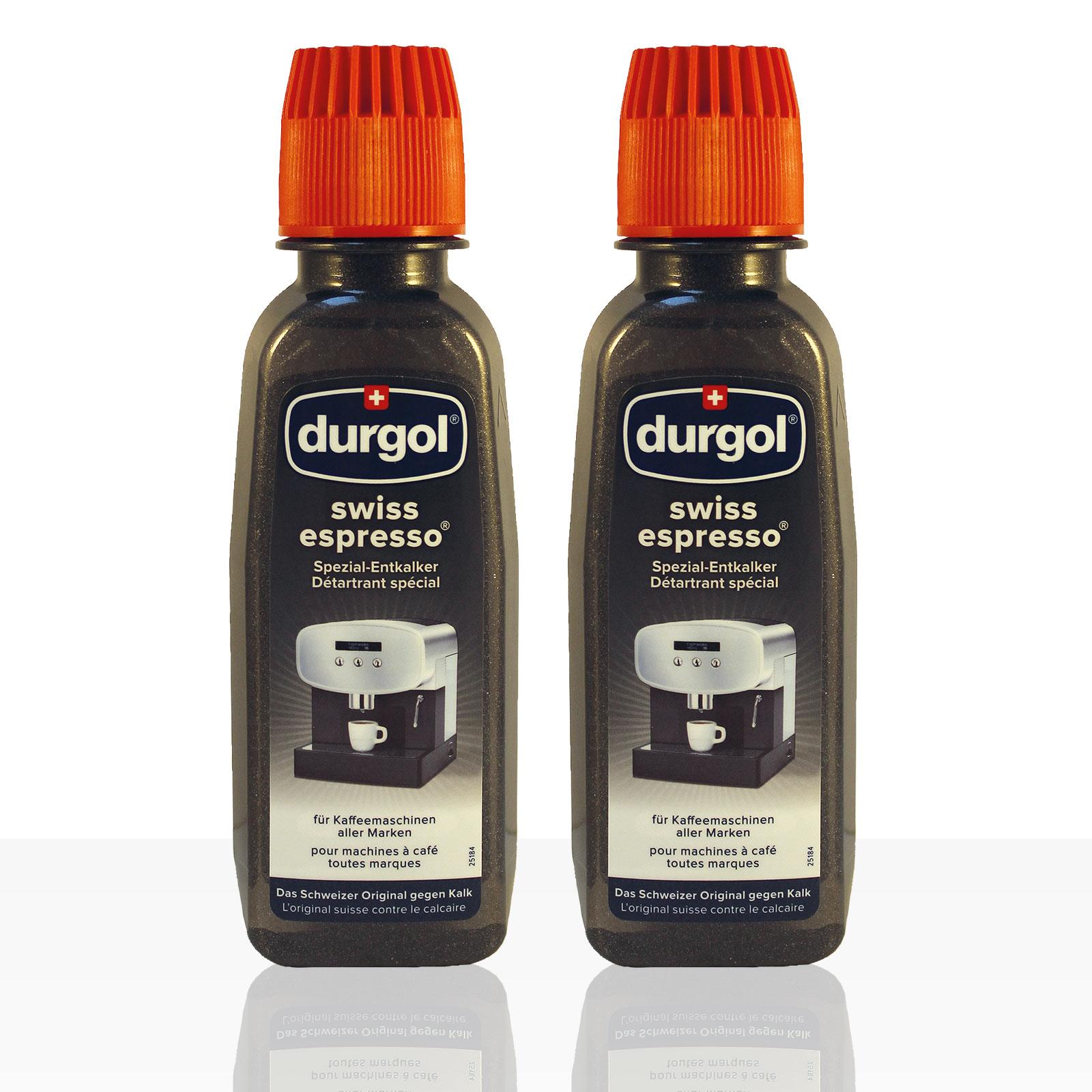 Durgol Swiss Espresso Spezial Flüssig-Entkalker 125ml, 2Stk