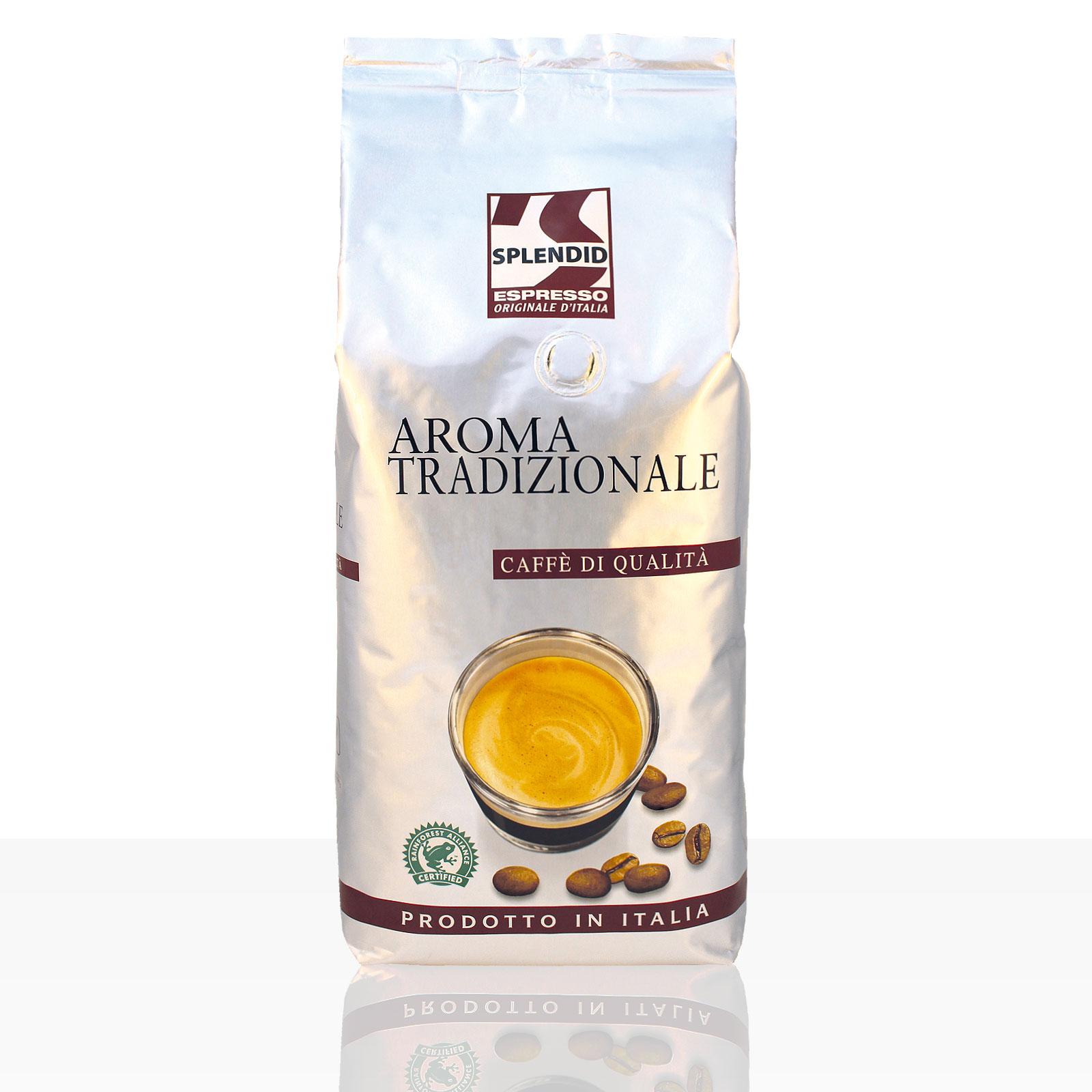 Splendid Espresso Aroma Tradizionale -  8 x 1kg ganze Kaffee-Bohne