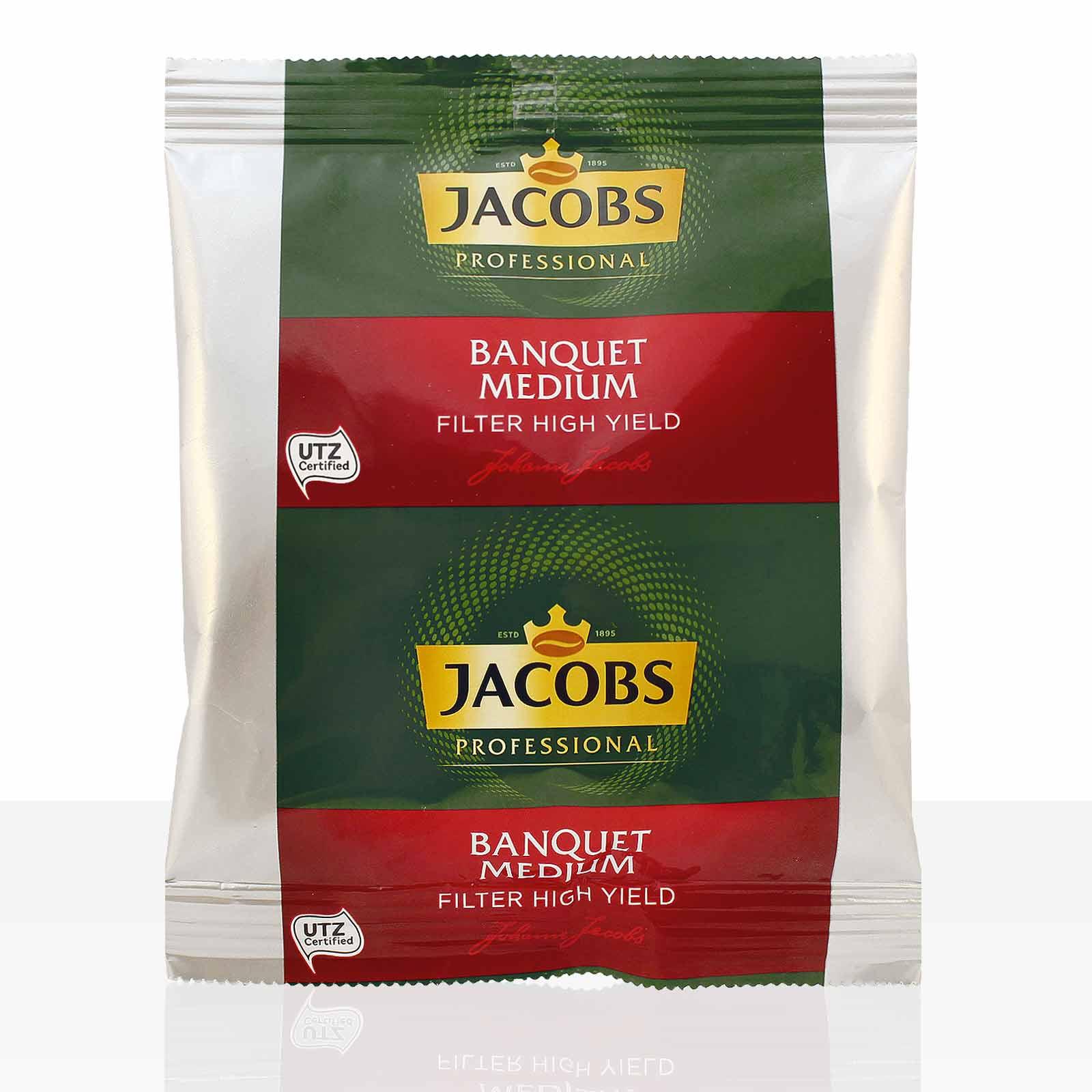 Jacobs Bankett Filterkaffee Temperamentvoll - 80 x 60g Kaffee gemahlen