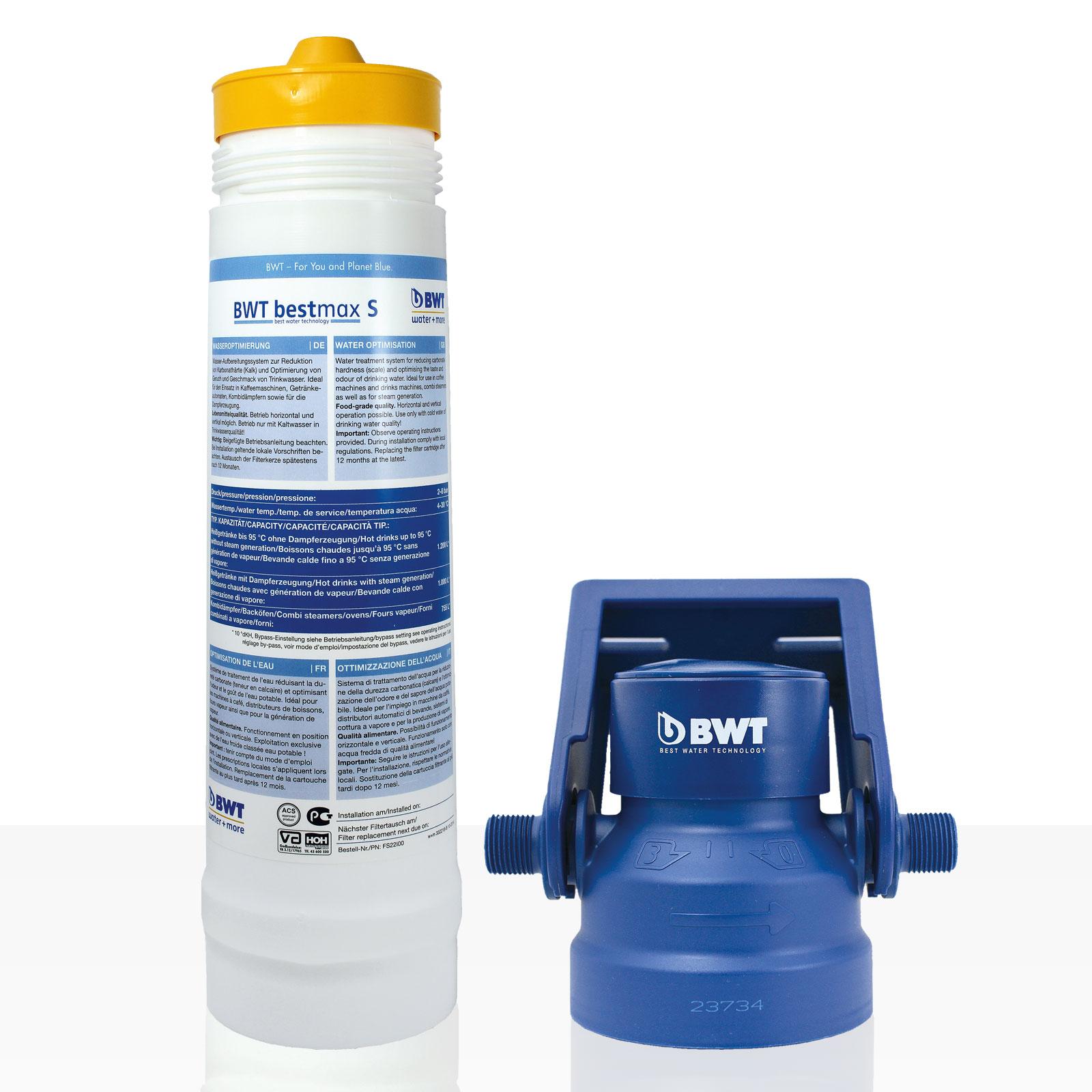 Bestmax S Filterset water + more Wasserfilter, BWT Set inkl. Filterkopf