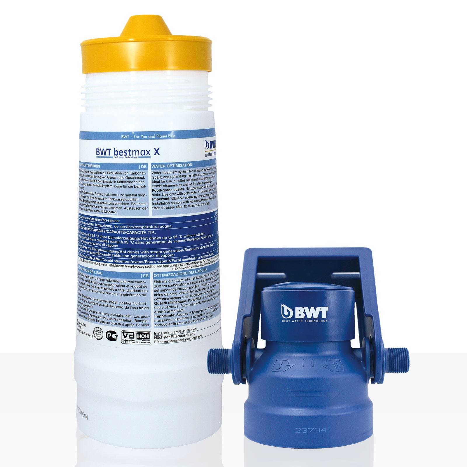 Bestmax X Filterset water + more Wasserfilter, BWT Set inkl. Filterkopf + Wandhalterung