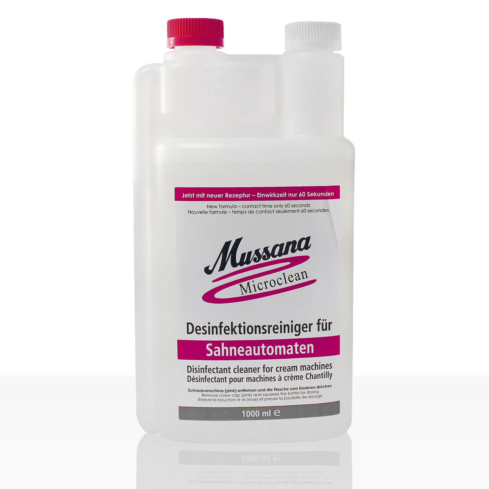 Mussana Microclean Desinfektionsreiniger für Sahneautomaten 12 x 1l