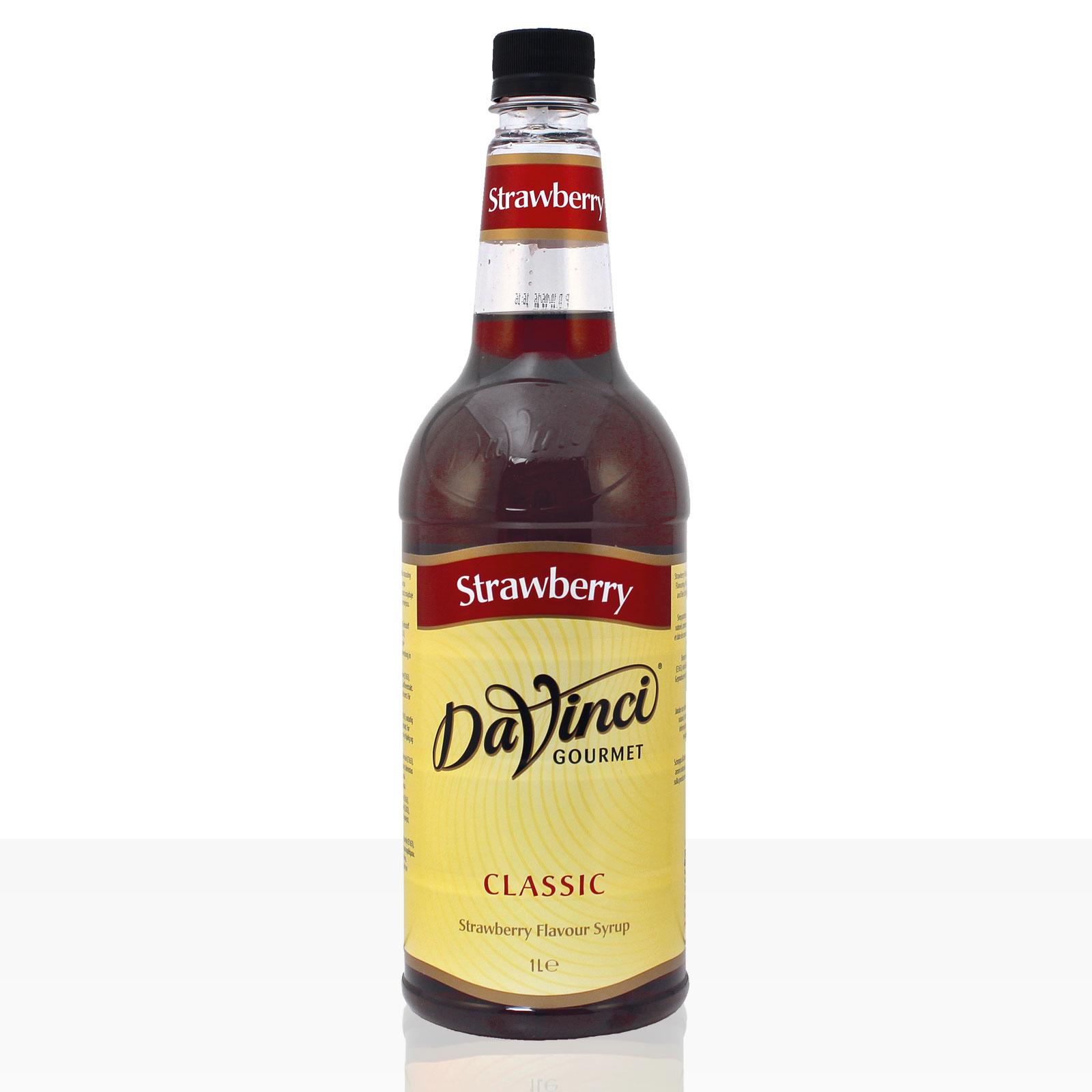 Da Vinci Gourmet Flavour Sirup Strawberry Erdbeer 1000ml Kaffeesirup
