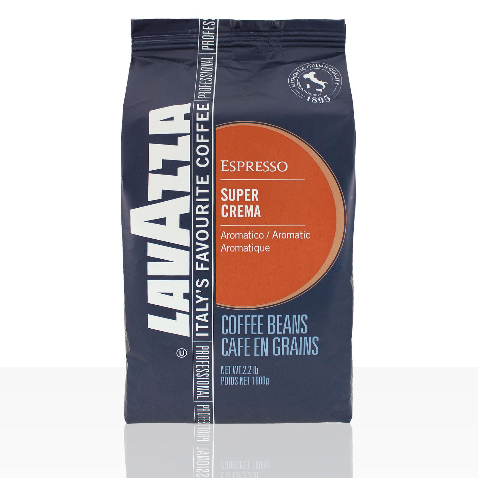 Lavazza Espresso Super Crema 6 x 1kg ganze Kaffee-Bohne