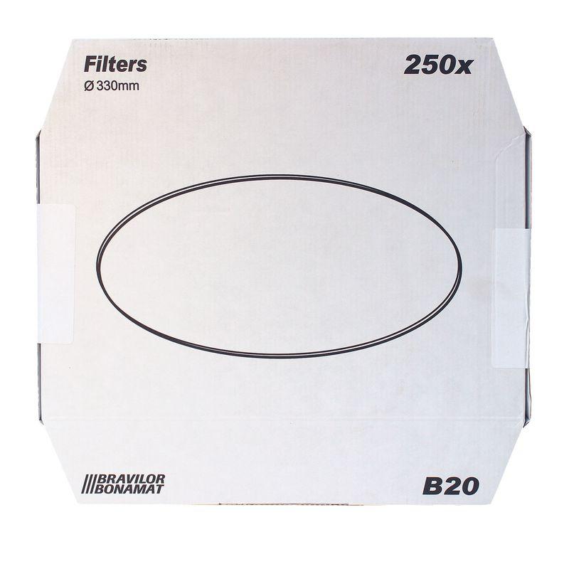 Bonamat Bravilor B20 Flachfilter Original 330 mm, 250 Stk, Kaffeefilter