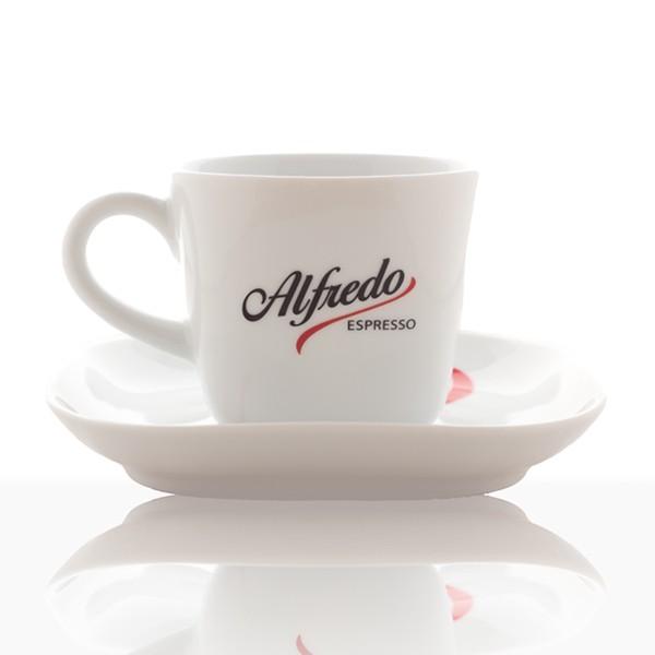 Alfredo Design Cappuccino-Tasse mit Untertasse 6 Stk, weiß