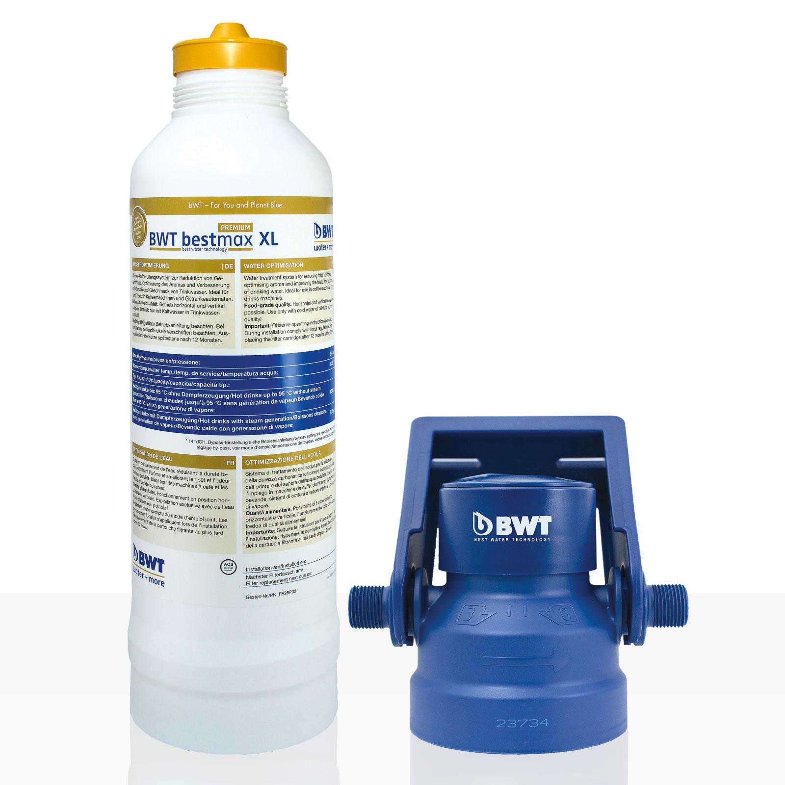 Bestmax XL Premium Filterkerze + Filterkopf, BWT water + more Wasserfilter, ca. 4300 L