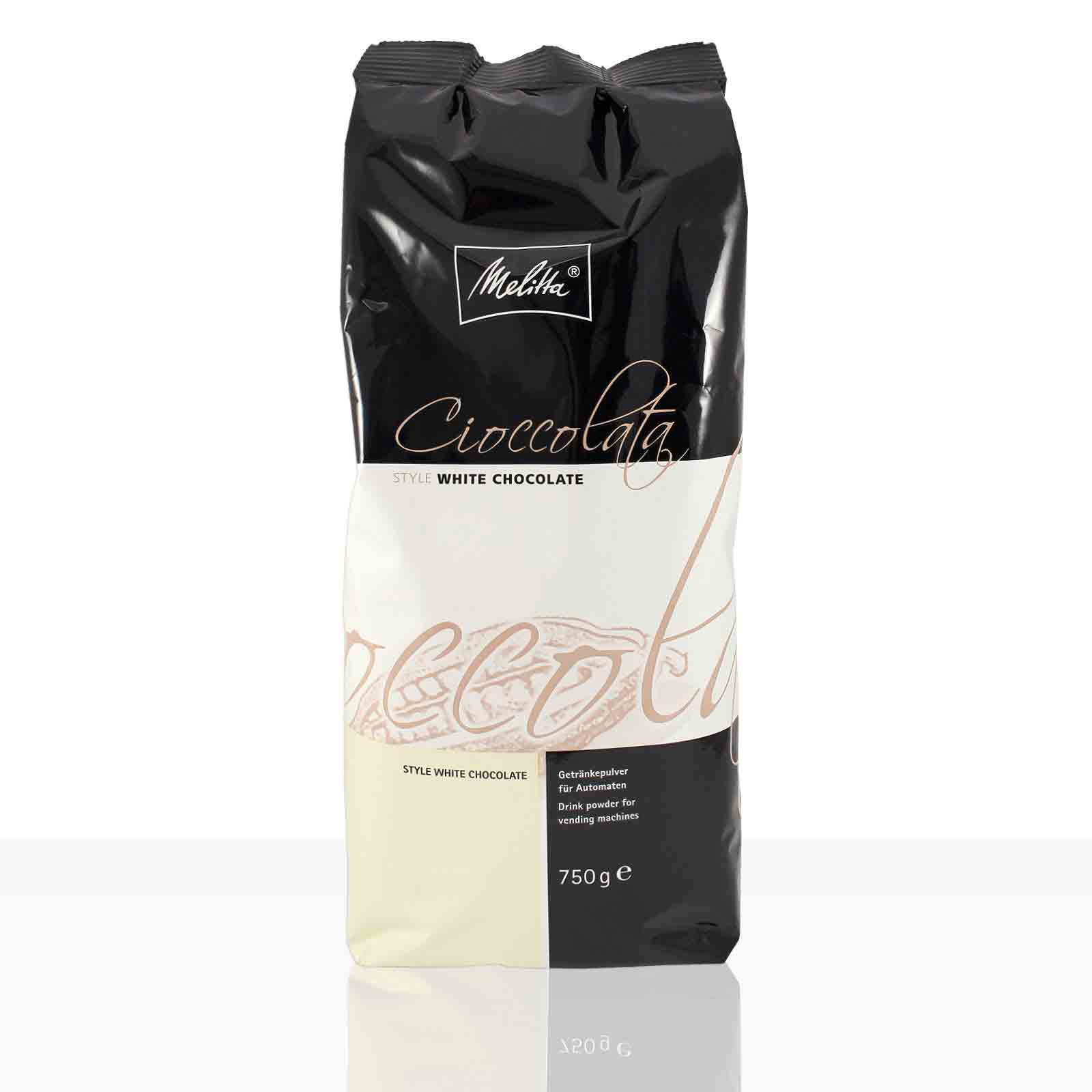 Melitta Cioccolata Style White Chocolate 750g, weiße Instant-Schokolade