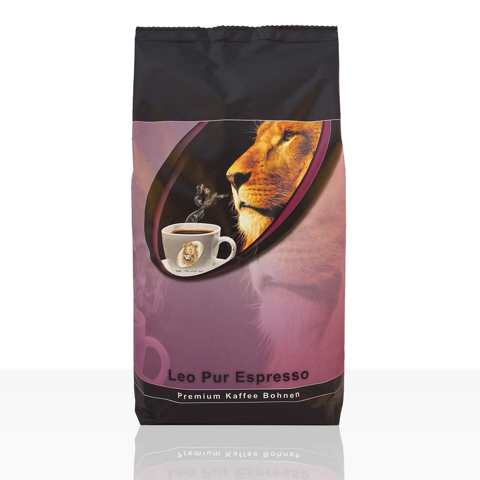 Coffeefair Edition Leo Espresso - 1kg ganze Kaffee-Bohnen, Premium Qualität
