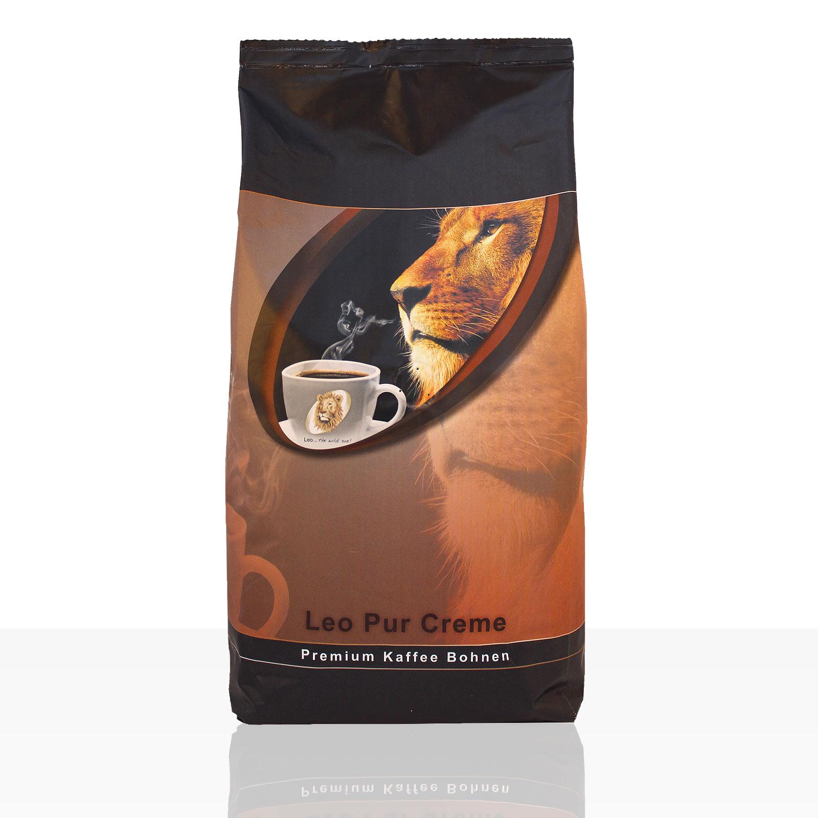 Coffeefair Edition Leo Pur Creme - 8 x 1kg ganze Kaffee-Bohne, Premium Qualität