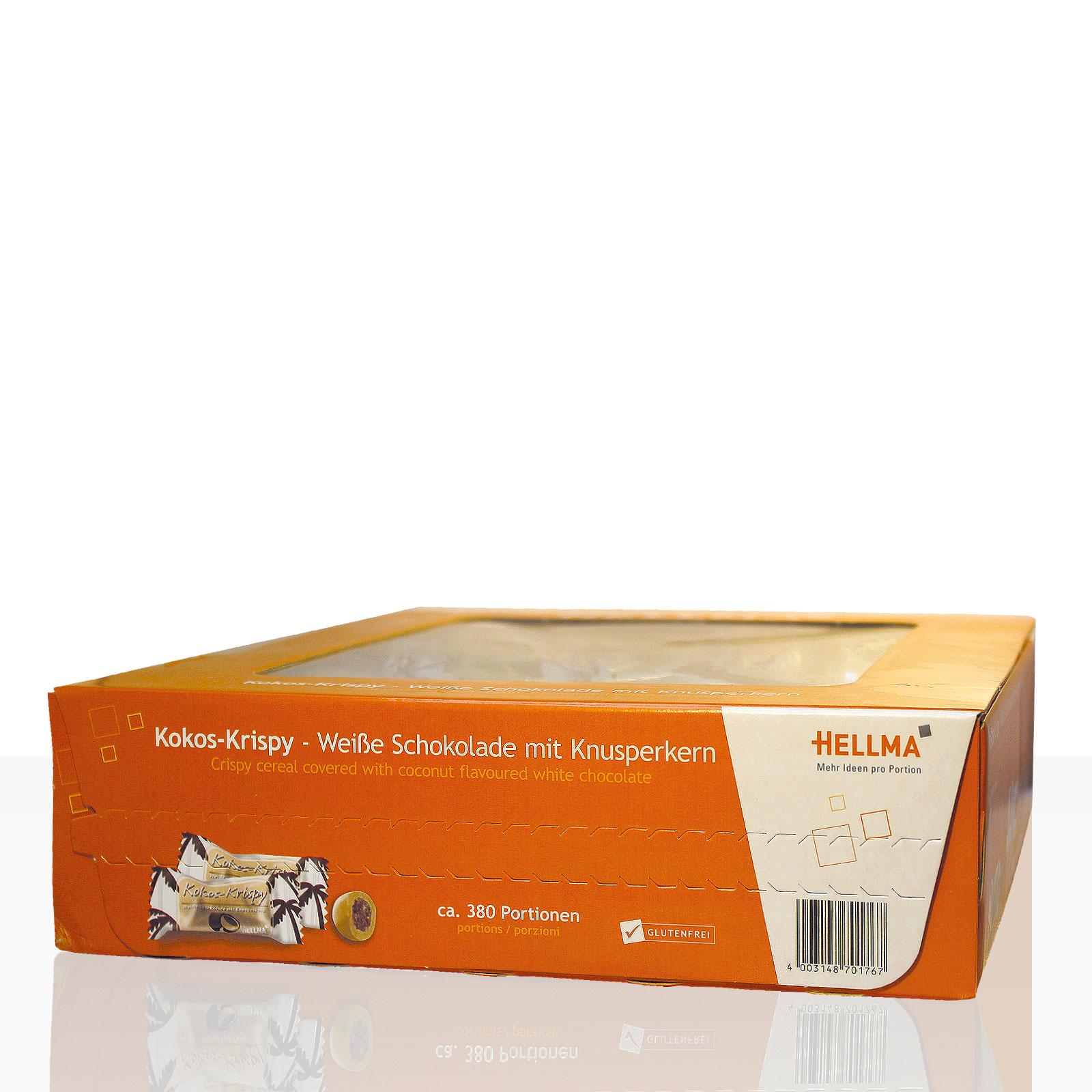 Hellma Kokos Krispy weiße Schokolade mit Knusperkern ca. 380 Stk