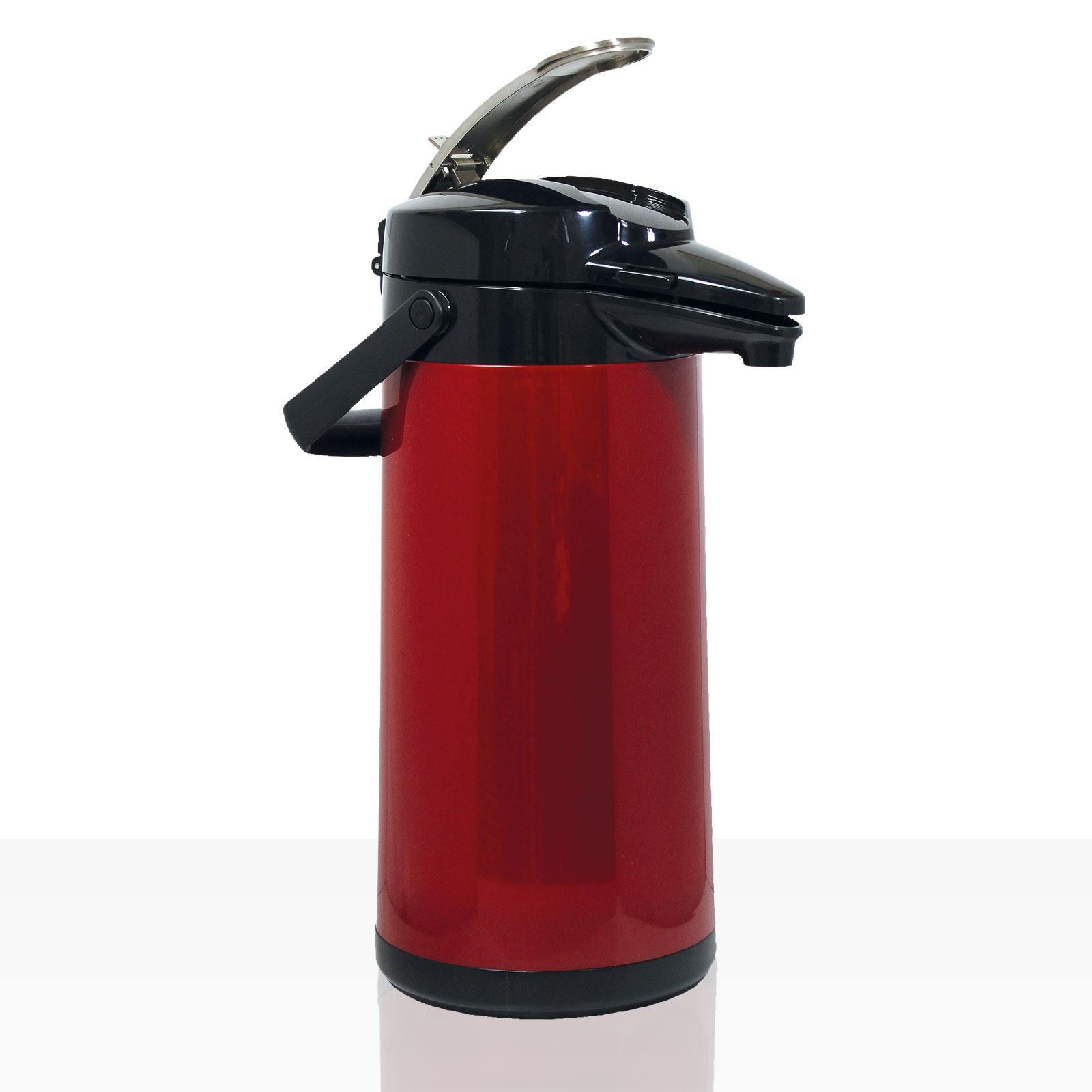 Bonamat Airpot Furento Pumpkanne 2,2l für TH - Glaseinsatz Matt Rot