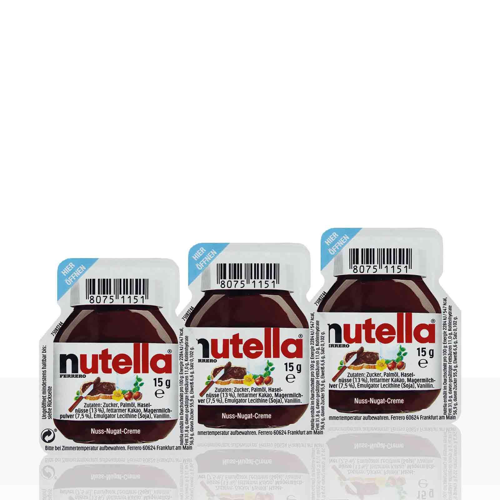 Nutella Ferrero Portionspackungen - 120 x 15g portioniert