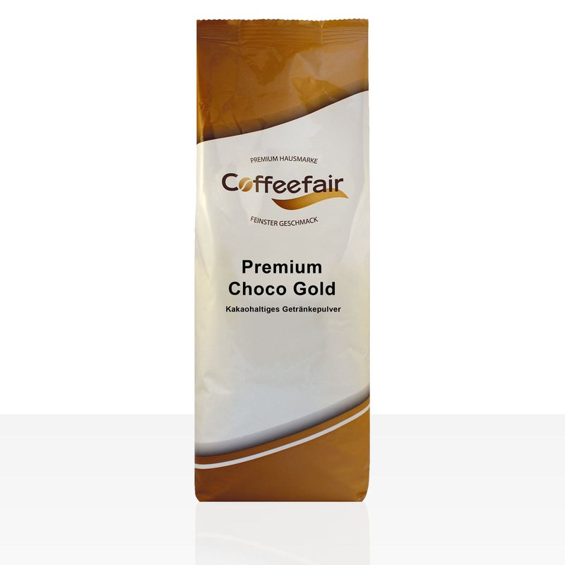 Coffeefair Premium Choco Gold Kakao 1kg, Kakaopulver 16,5% (Neues Design)