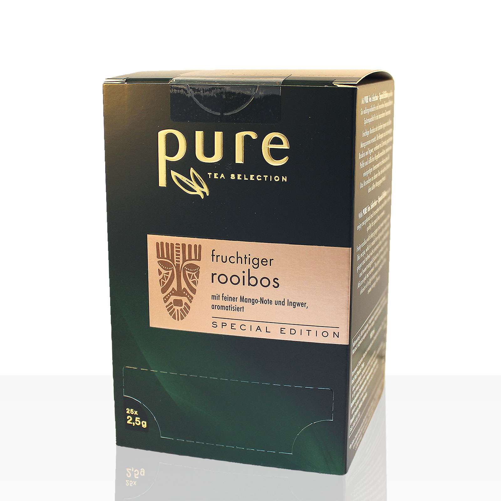 Pure Tea fruchtiger Rooibos 25 x 2,5g Tee-Beutel, Special Edition