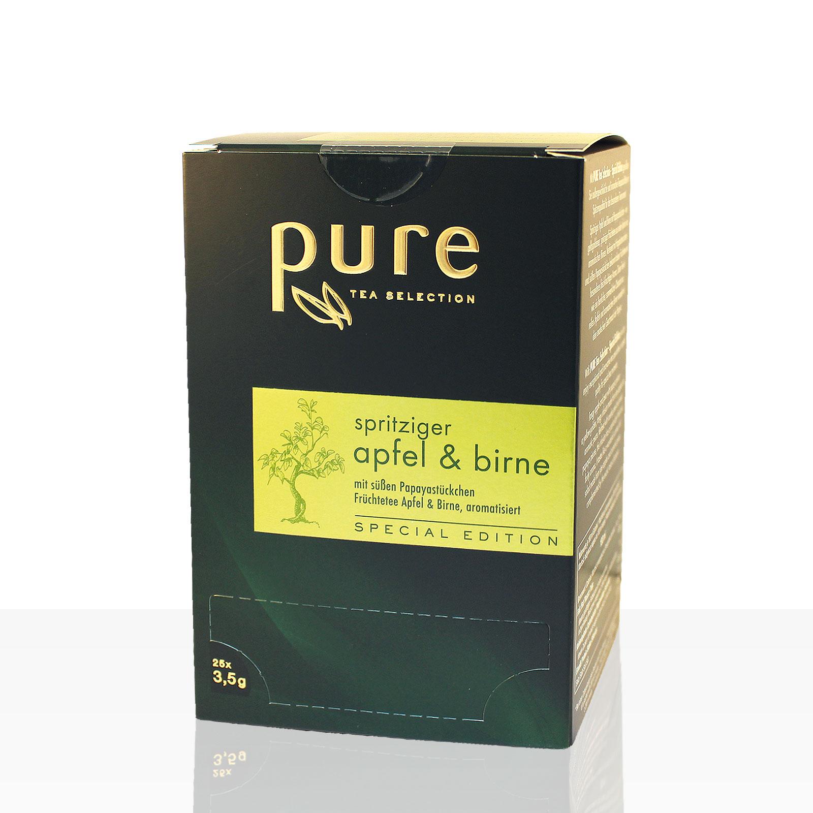 Pure Tea spritziger Apfel & Birne 4 x 25 Beutel Tee, Special Edition