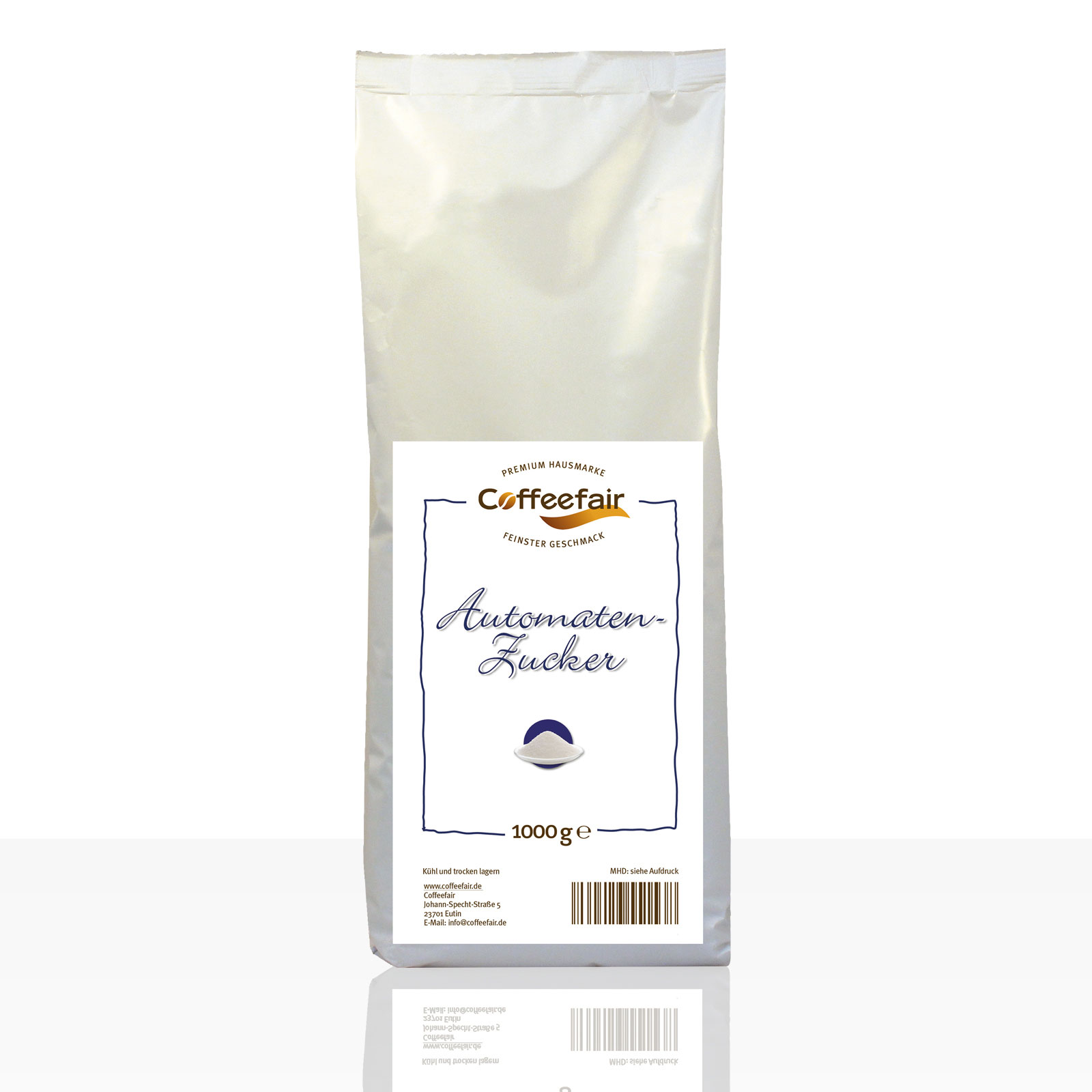 Coffeefair Automatenzucker 10 x 1kg, Feinzucker