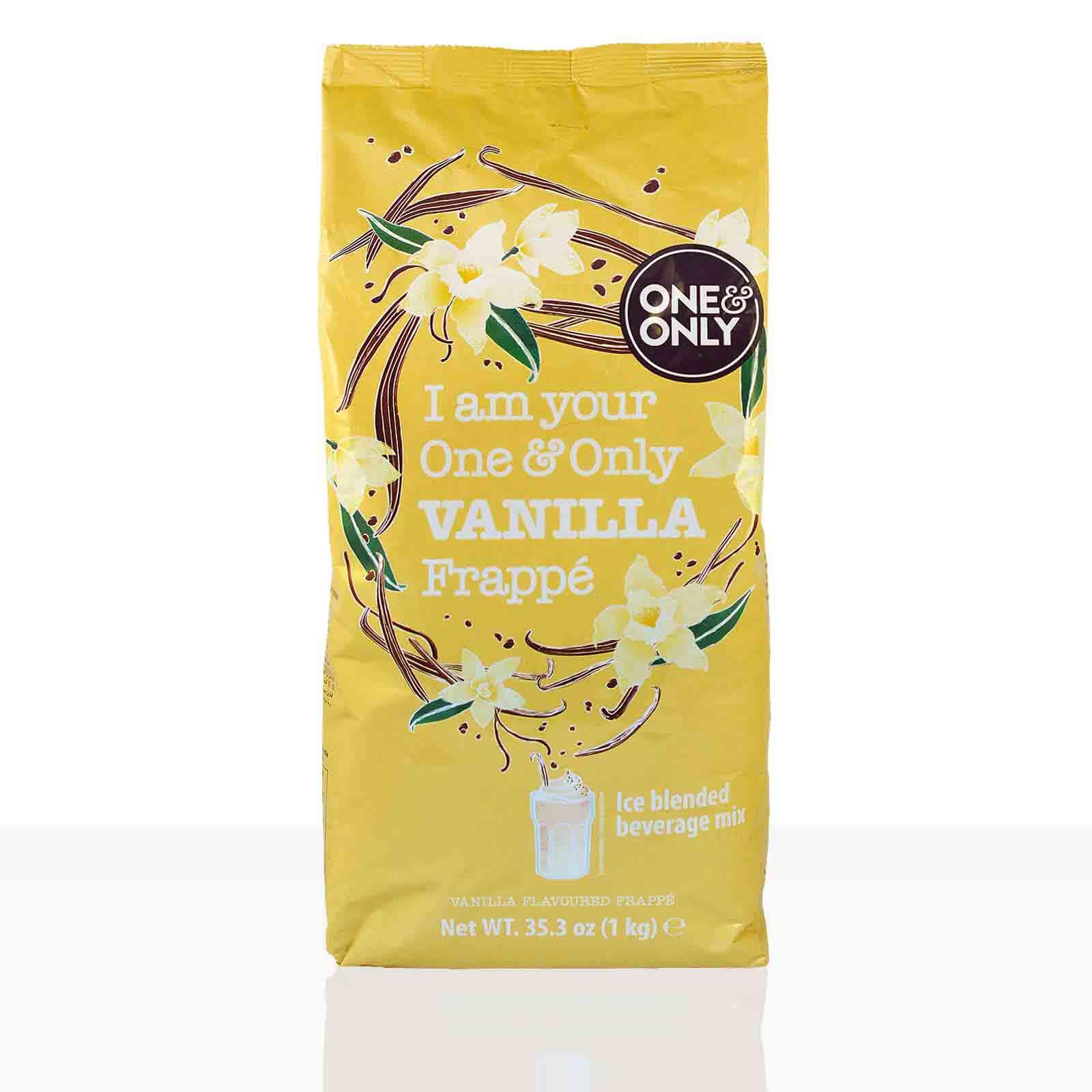 One & Only Frappe Vanille - 6 x 1kg Vanillepulver Instantpulver Milchshake