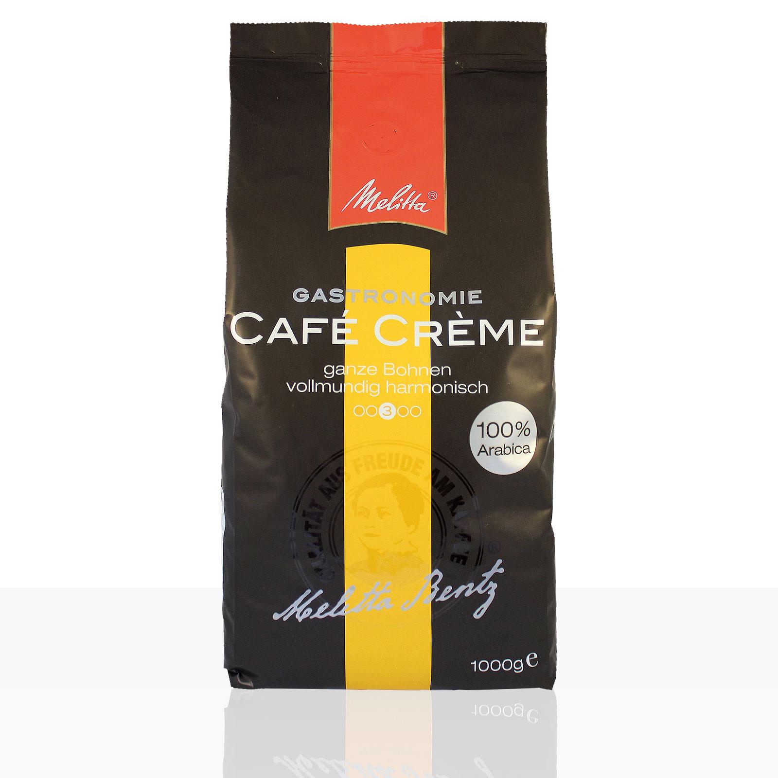 Melitta Gastronomie Café Crème 100% Arabica - 1kg Kaffee ganze Bohne