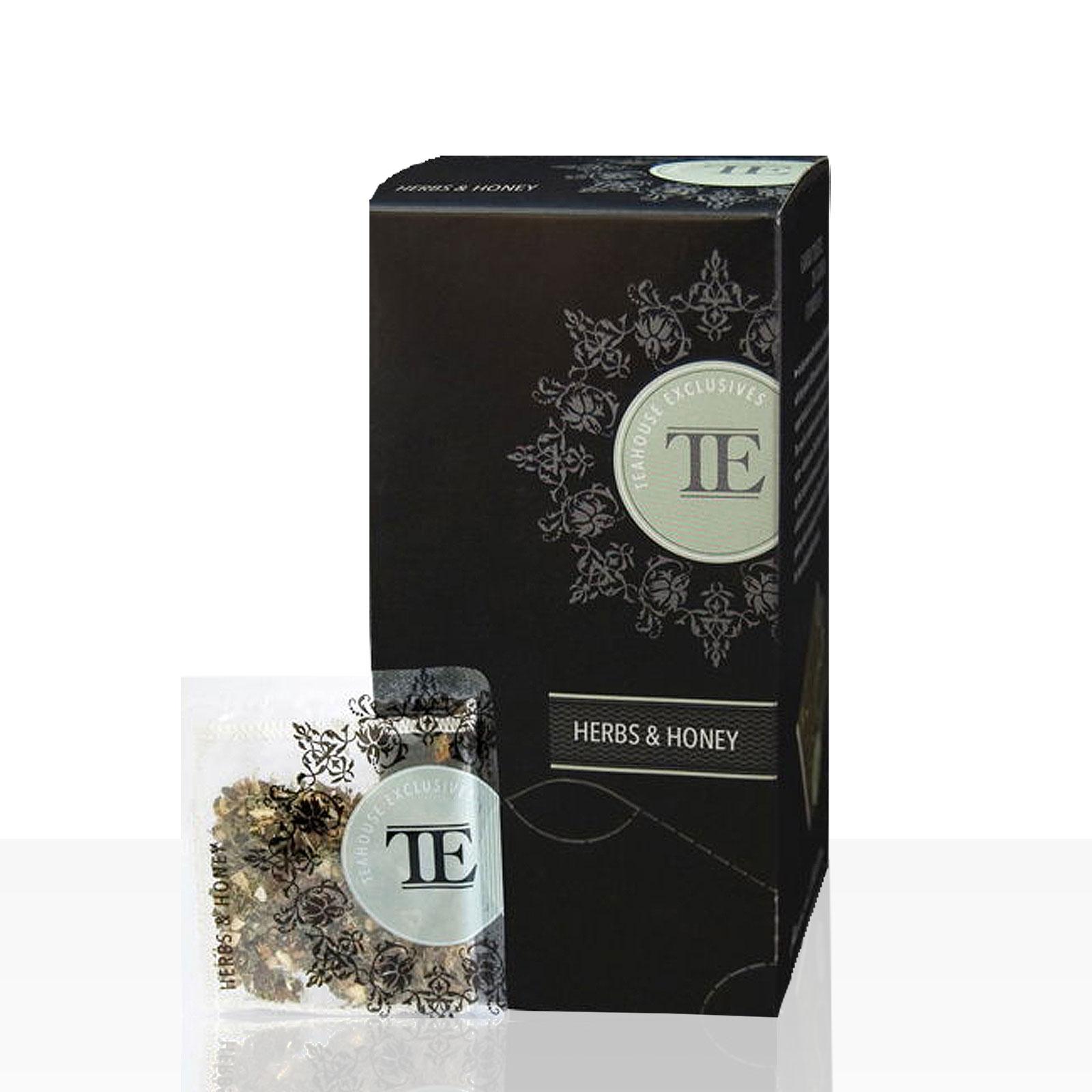 TE Luxury Teahouse Exclusives Herbs & Honey, Kräuter & Honig 6 x 15 Beutel á 3,5g
