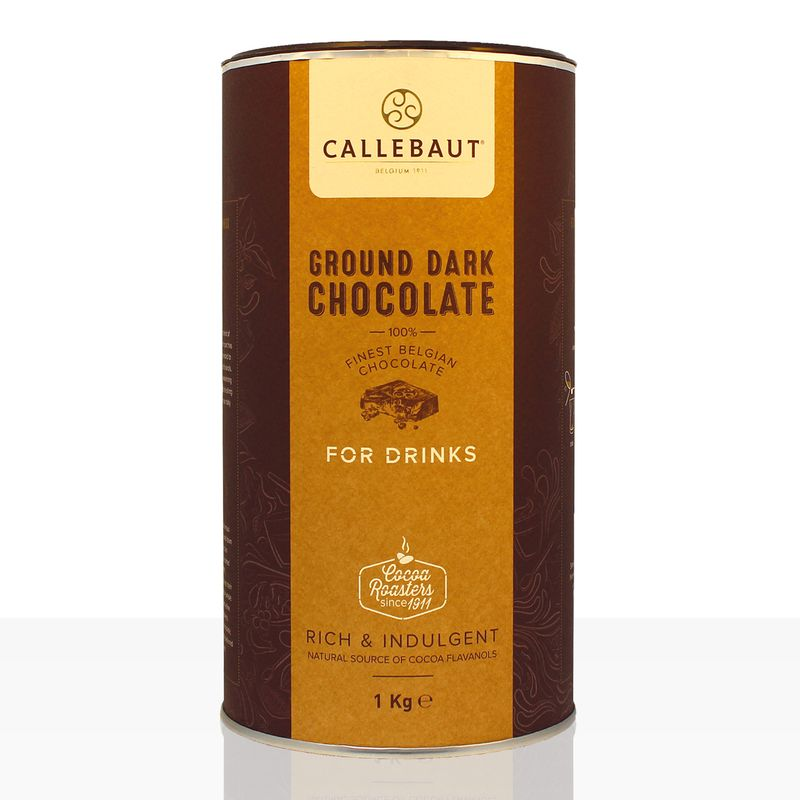 Callebaut Ground Chocolate Dark 1kg dunkle Instantschokolade