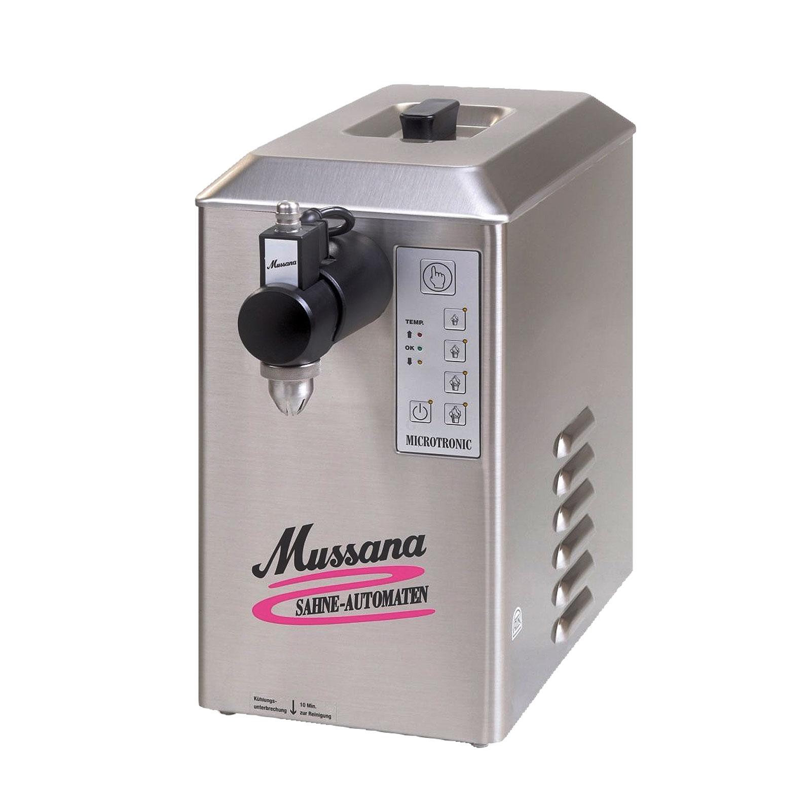 Mussana Pony 2-Liter Sahnemaschine inkl 8l Reiniger