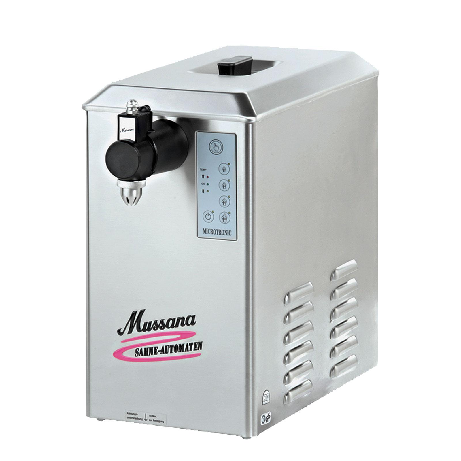 Mussana 6-Liter Lady Sahnemaschine inkl 8l Reiniger