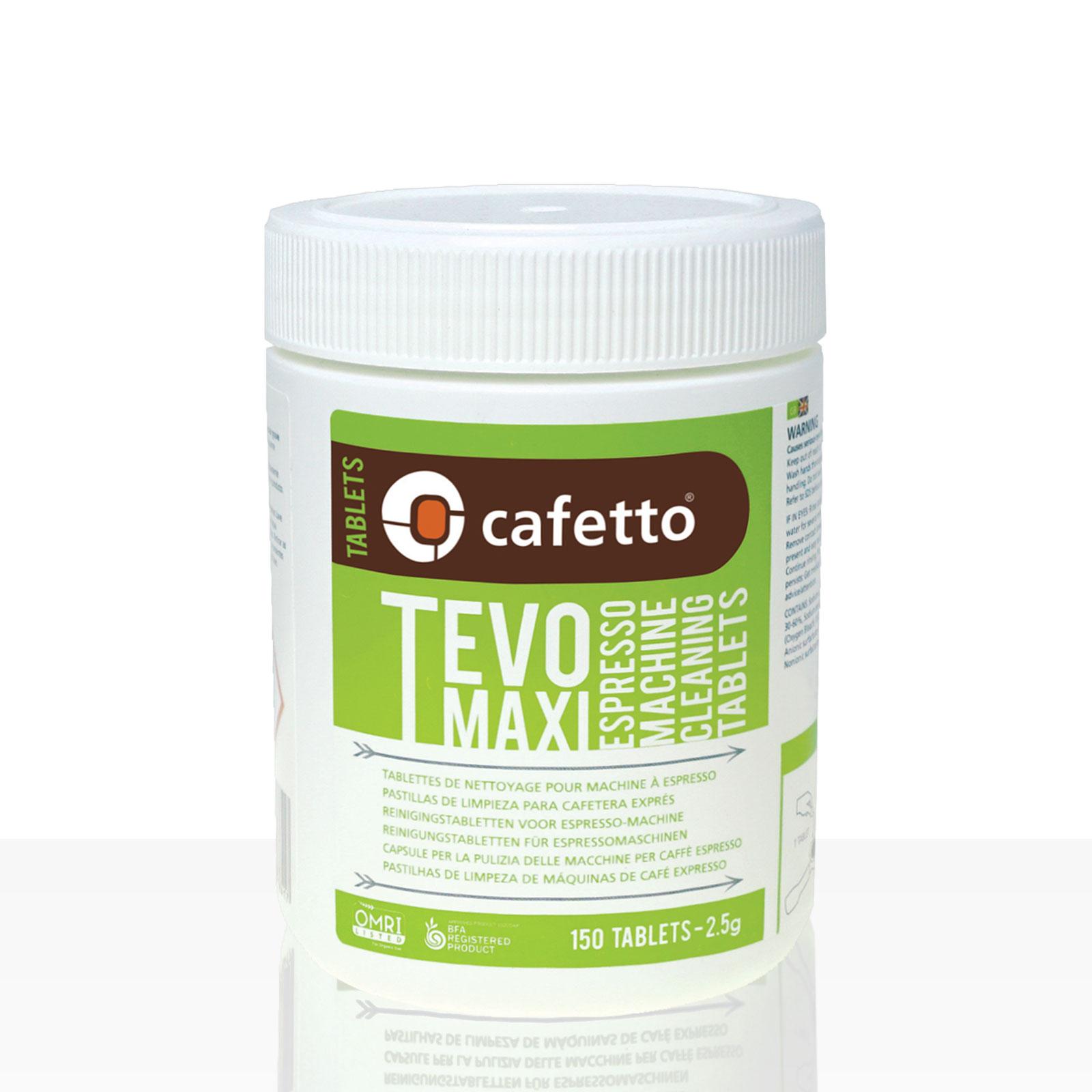 Cafetto Tevo Maxi Reinigungstabletten für Espressomaschinen 150 x 2,5g, biologisch abbaubar