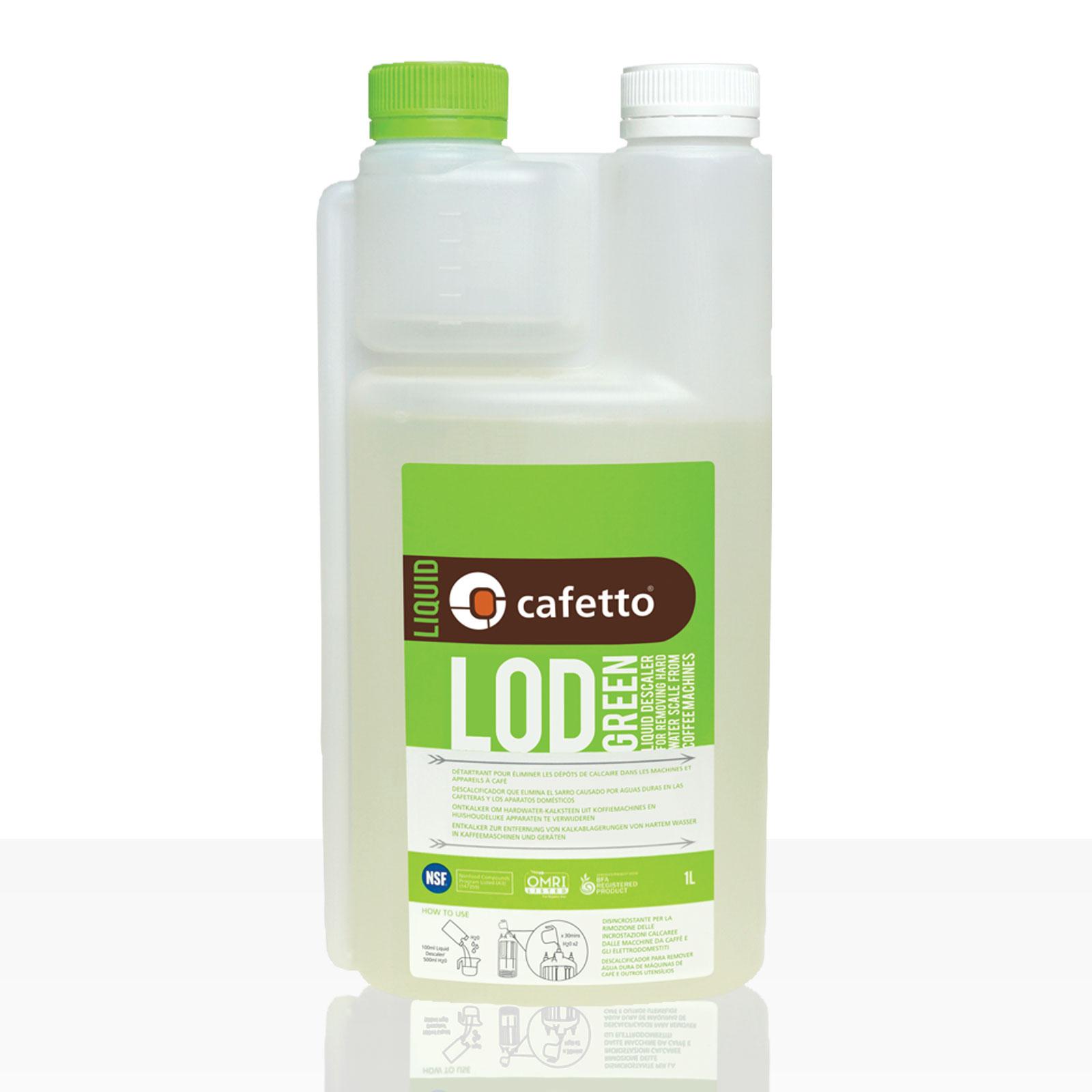 Cafetto LOD Grün flüssiger Entkalker 1 Liter, rein organisch
