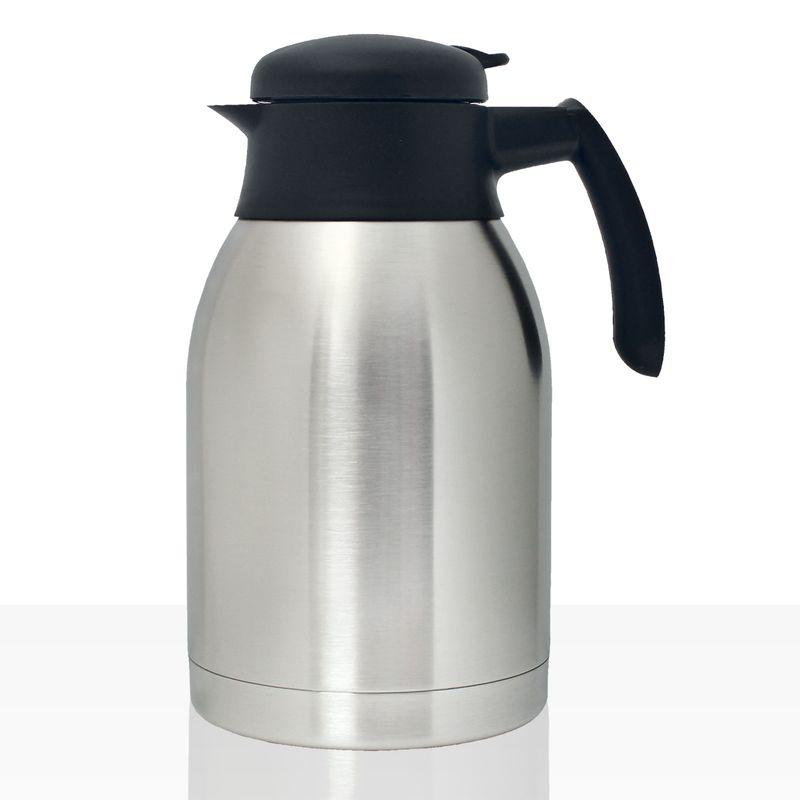Bonamat Isolierkanne Edelstahl 1,5l mit Drehdeckel, Kaffee-Kanne