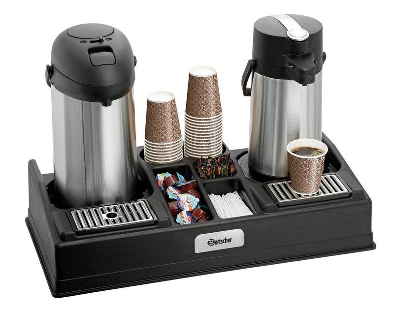 Bartscher Kaffeestation für 2 Pumpkannen und Zubehör
