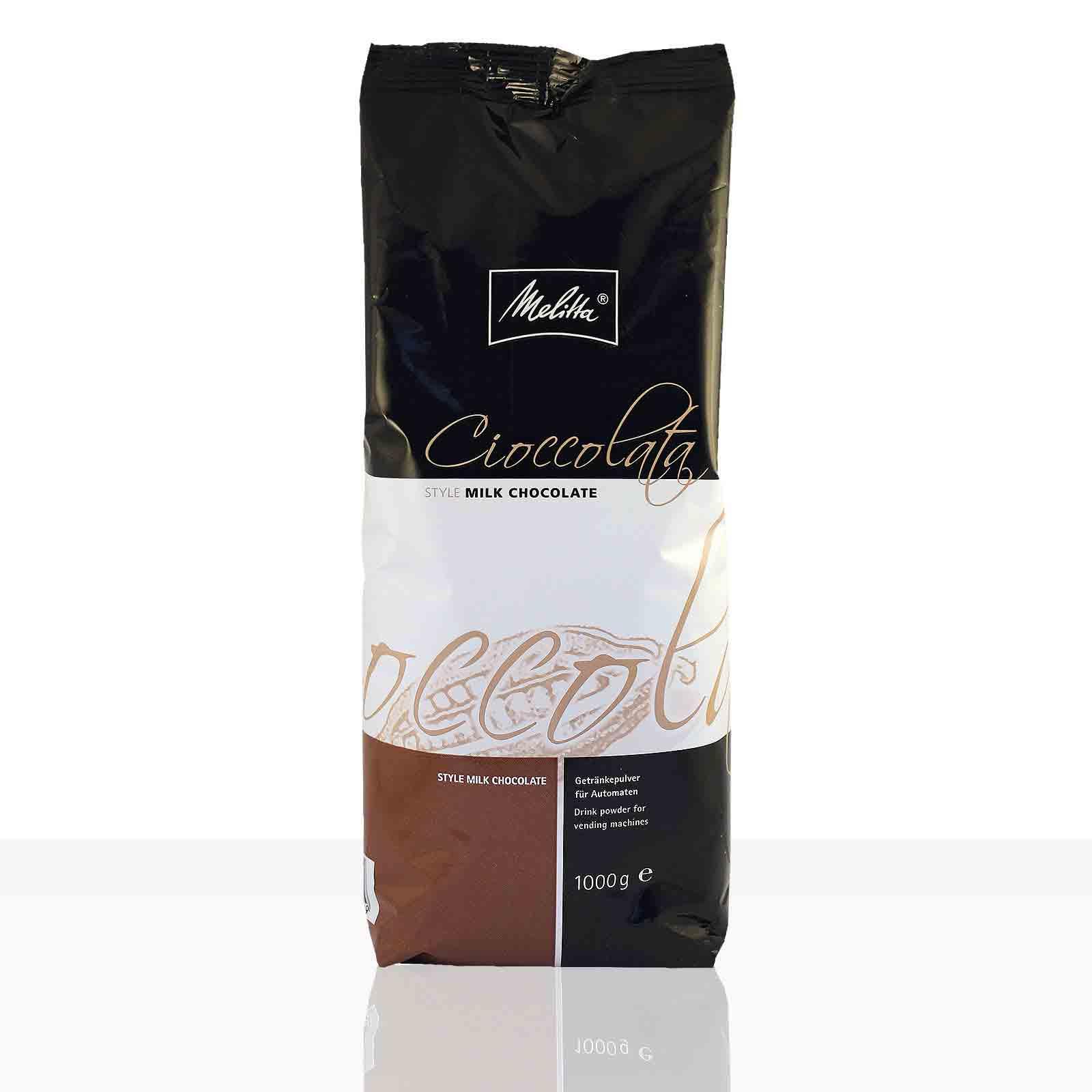 Melitta Cioccolata Style Milk Chocolate Kakao 1kg, Kakaopulver 15%