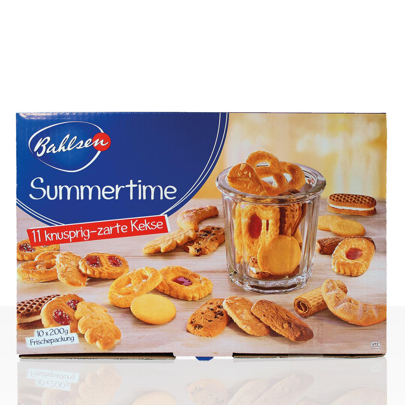 Bahlsen Kekse Summertime Gebäck 2kg, Box mit 11 Sorten