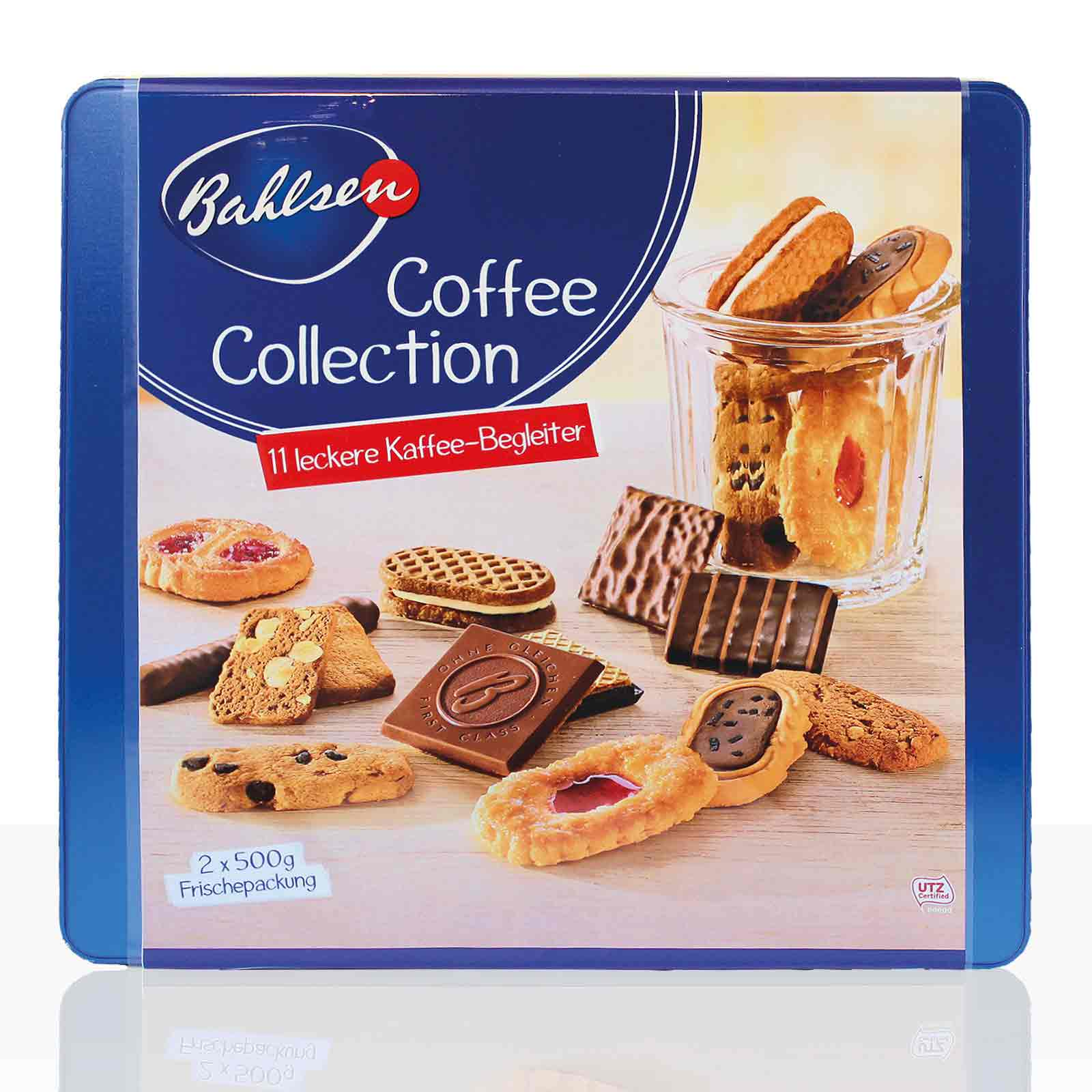 Bahlsen Kekse Coffee Collection Gebäck mit 11 erlesenen Sorten 2 x 500g
