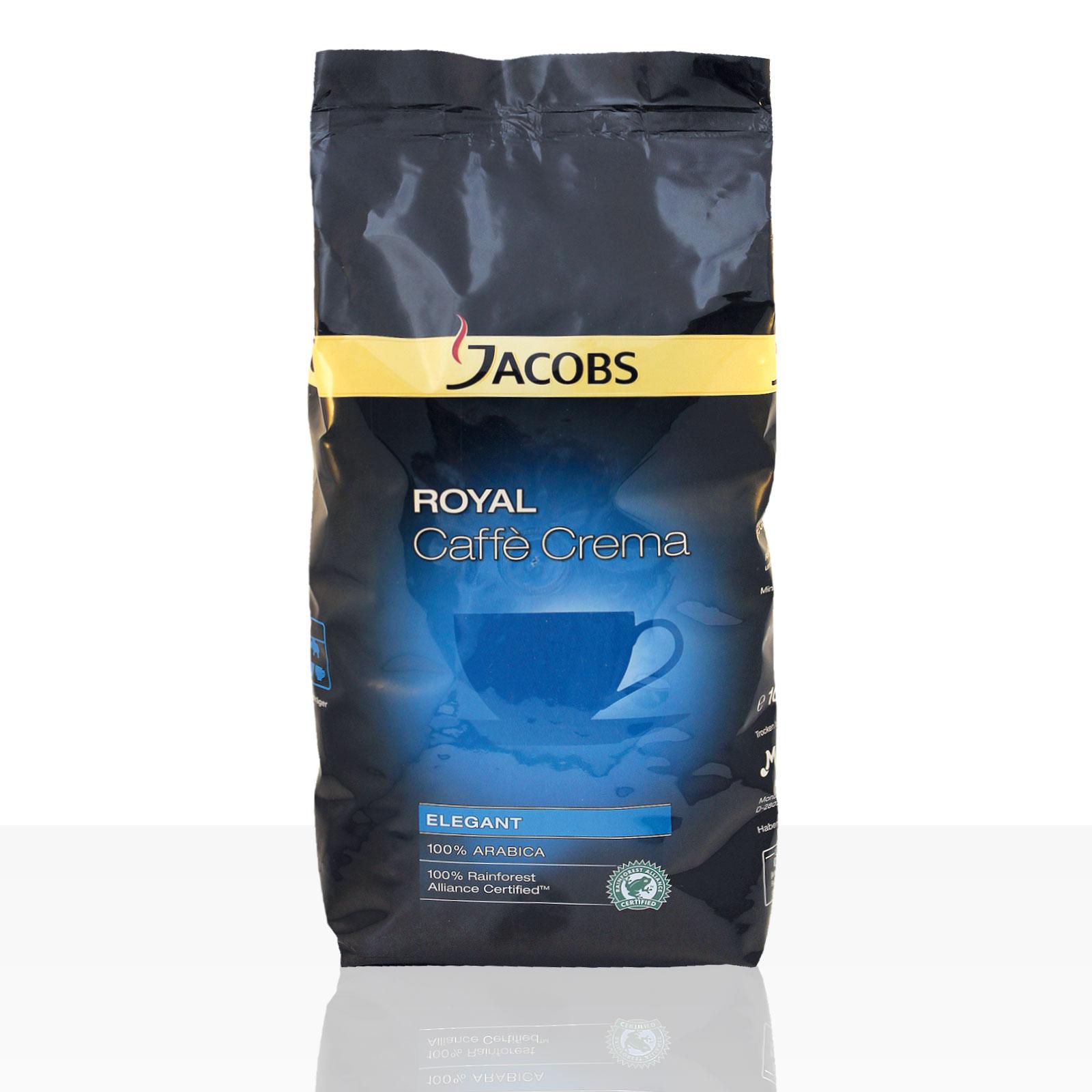 Jacobs Royal Caffe Crema Elegant - 1kg Kaffee ganze Bohne, 100% Arabica