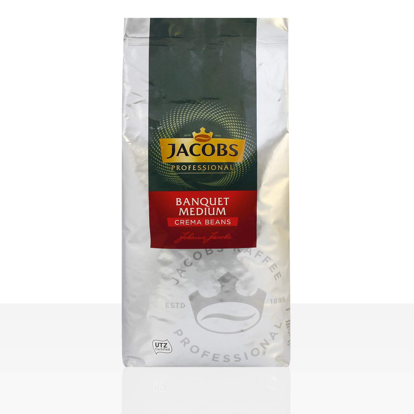 Jacobs Professional Cafe Creme Bankett Medium - 8 x 1kg ganze Kaffee-Bohne