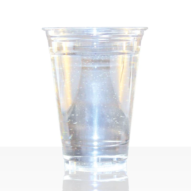 Clear Cup Becher 0,4l (16oz), 1000Stk PET Smoothie Klarbecher