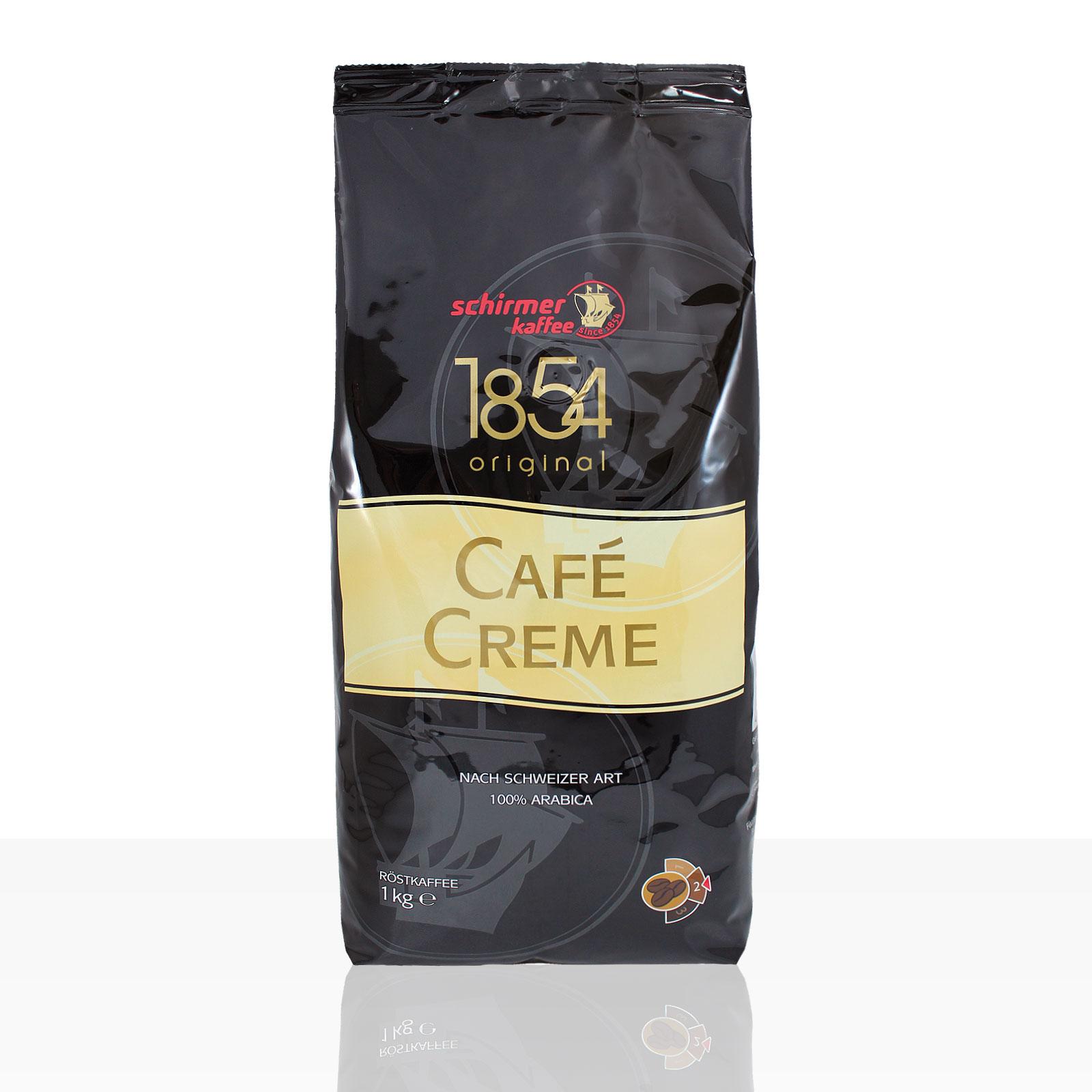 Schirmer Cafe Creme 1854 - 1kg ganze Kaffee-Bohne, 100% Arabica