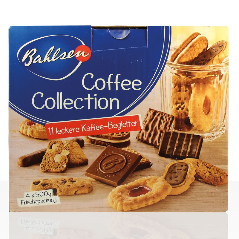 Bahlsen Gebäck, 2Kg Bahlsen Coffee Collection, 4 x 500g Serviersets mit 11 Sorten