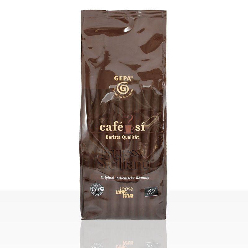 Gepa Cafe Si Espresso Siciliano Bio - 1kg ganze Kaffee-Bohne